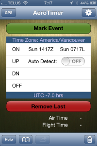 Main timer interface